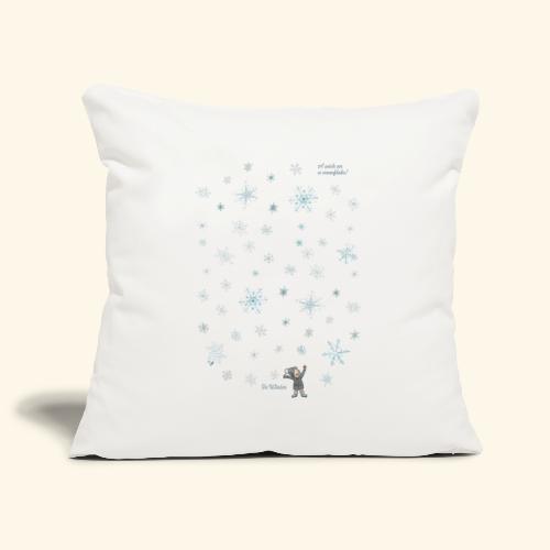 A wish on a snowflake - Winter - Hochformat - Sofakissenbezug 44 x 44 cm