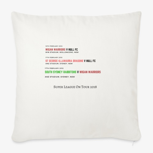 Super League on Tour - Sofa pillowcase 17,3'' x 17,3'' (45 x 45 cm)