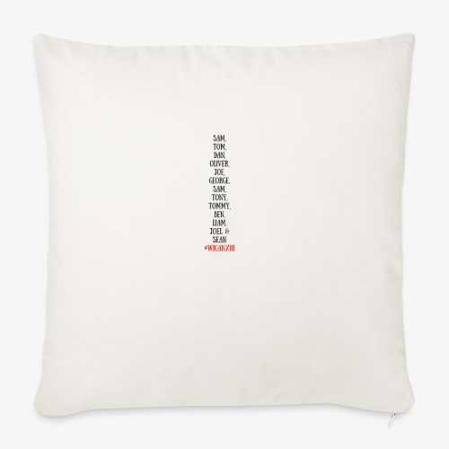 Tom Dan Oliver Joe George - Sofa pillowcase 17,3'' x 17,3'' (45 x 45 cm)