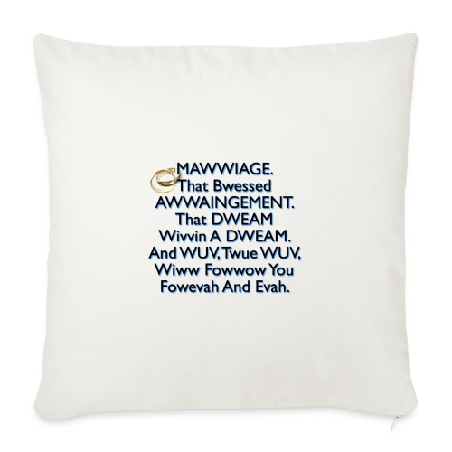 Mawwiage (blue) - Sofa pillowcase 17,3'' x 17,3'' (45 x 45 cm)