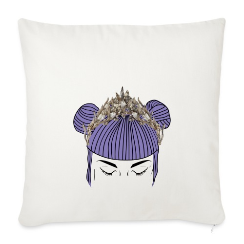 Queen girl - Funda de cojín, 45 x 45 cm