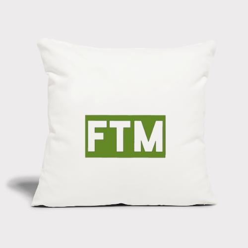 Ftm logo - Copricuscino per divano, 45 x 45 cm