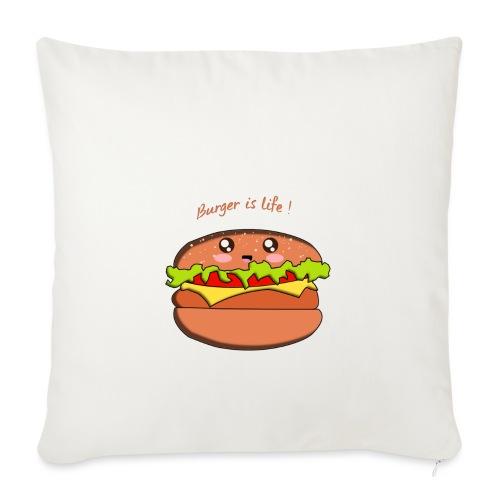 hamburger - Housse de coussin décorative 45x 45cm