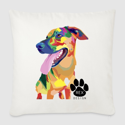 Big Tongue Dog - Sofa pillowcase 17,3'' x 17,3'' (45 x 45 cm)