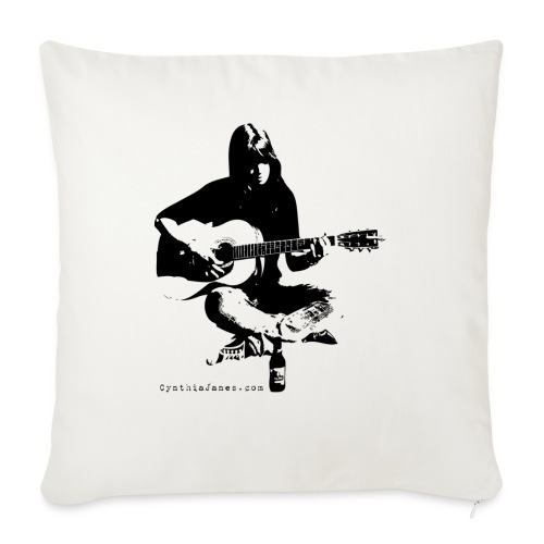 Cynthia Janes guitar BLACK - Sofa pillowcase 17,3'' x 17,3'' (45 x 45 cm)