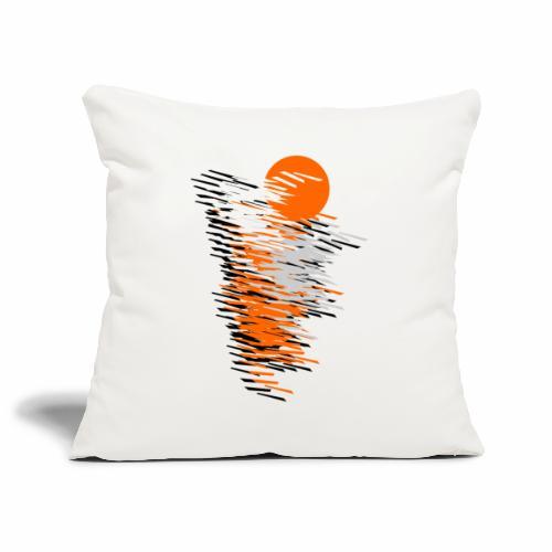 Black And Orange - Sofa pillowcase 17,3'' x 17,3'' (45 x 45 cm)
