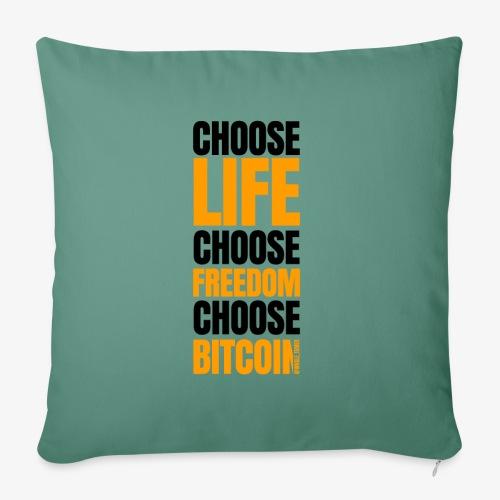 Logo choose bitcoin black 1 1 - Housse de coussin décorative 45x 45cm