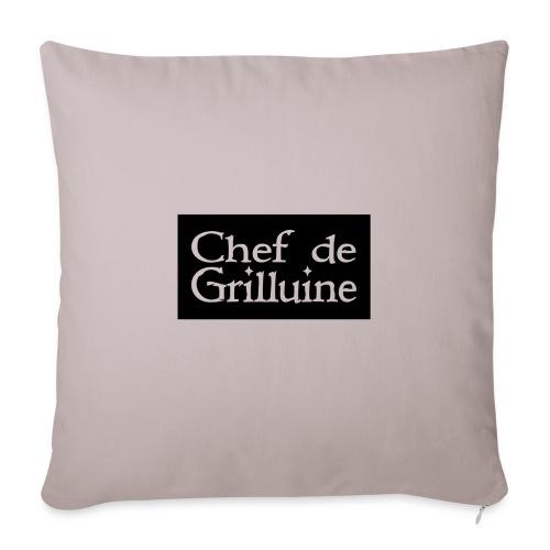 Chef de Grilluine - der Chef am Grill - Sofakissenbezug 44 x 44 cm