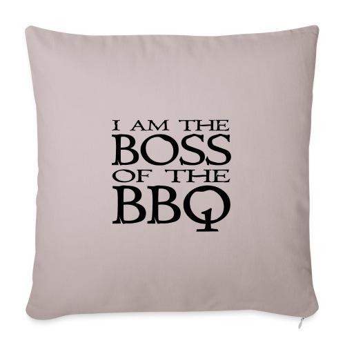 I am the Boss of the BBQ - der Chef am Grill - Sofakissenbezug 44 x 44 cm