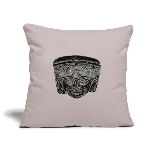 statue maya - Housse de coussin décorative 45x 45cm