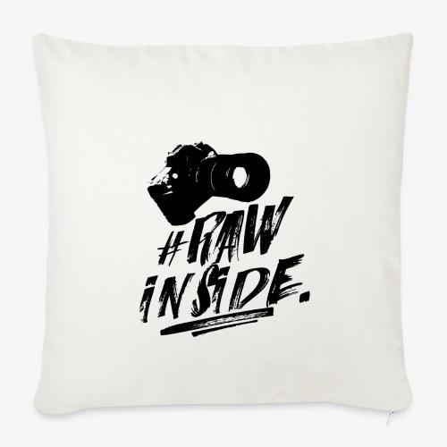 RAW INSIDE - Copricuscino per divano, 45 x 45 cm