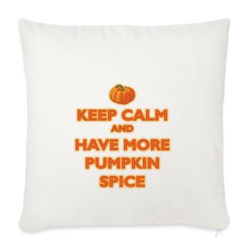 KeepCalmPumpkinSpice - Copricuscino per divano, 45 x 45 cm