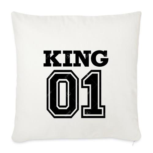 King 01 - Housse de coussin décorative 45x 45cm