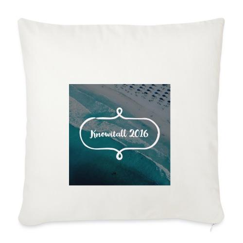 Knowitall 2016 - Sofa pillowcase 17,3'' x 17,3'' (45 x 45 cm)