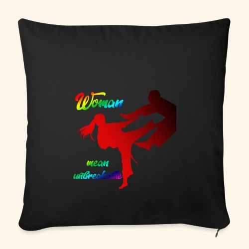 woman mean unbreakable - Copricuscino per divano, 45 x 45 cm