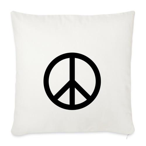 Peace Teken - Sierkussenhoes, 45 x 45 cm