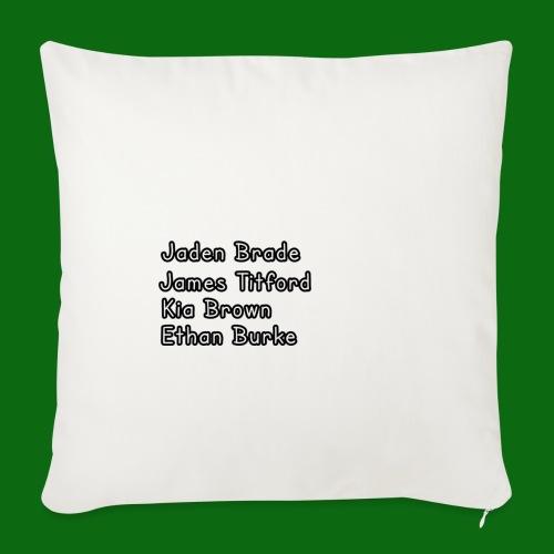 Glog names - Sofa pillowcase 17,3'' x 17,3'' (45 x 45 cm)