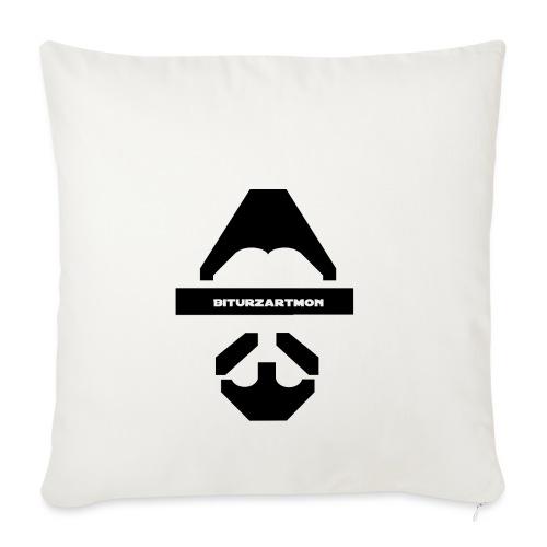 Biturzartmon Logo schwarz glatt - Sofakissenbezug 44 x 44 cm