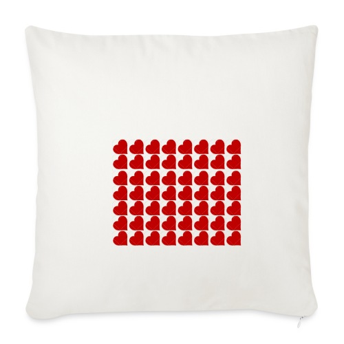 Hearts - Sofa pillowcase 17,3'' x 17,3'' (45 x 45 cm)