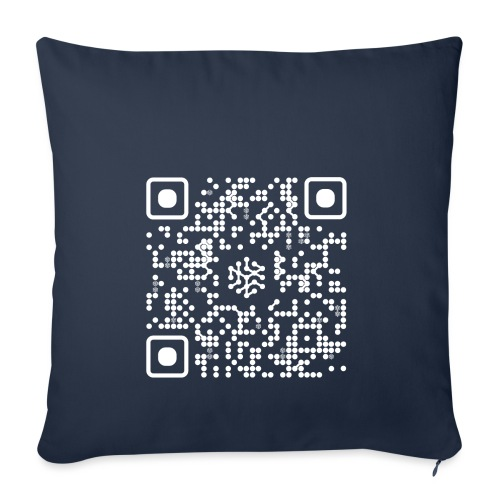 QR Safenetforum White - Sofa pillowcase 17,3'' x 17,3'' (45 x 45 cm)