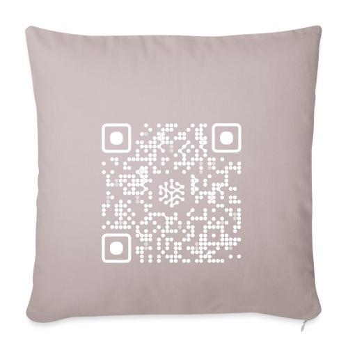 QR Safenetforum White - Sofa pillowcase 17,3'' x 17,3'' (45 x 45 cm)