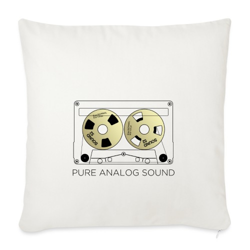 Reel gold cassette white - Sofa pillowcase 17,3'' x 17,3'' (45 x 45 cm)