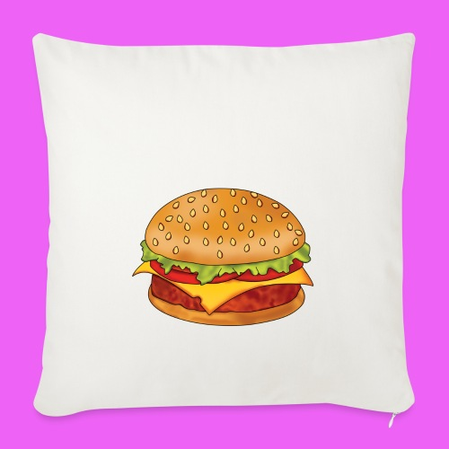 hamburguesa - Funda de cojín, 45 x 45 cm