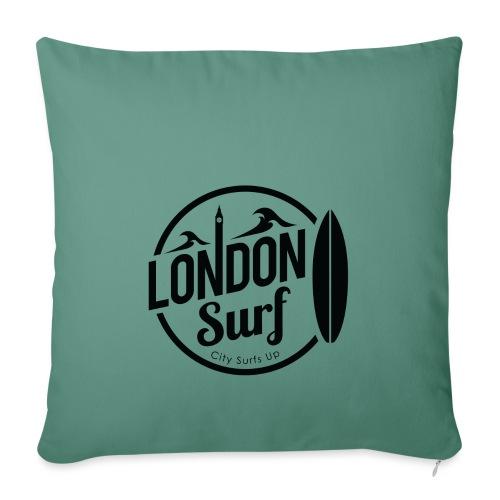 London Surf - Black - Sofa pillowcase 17,3'' x 17,3'' (45 x 45 cm)