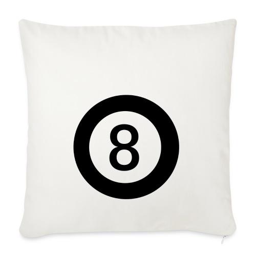 Black 8 - Sofa pillowcase 17,3'' x 17,3'' (45 x 45 cm)