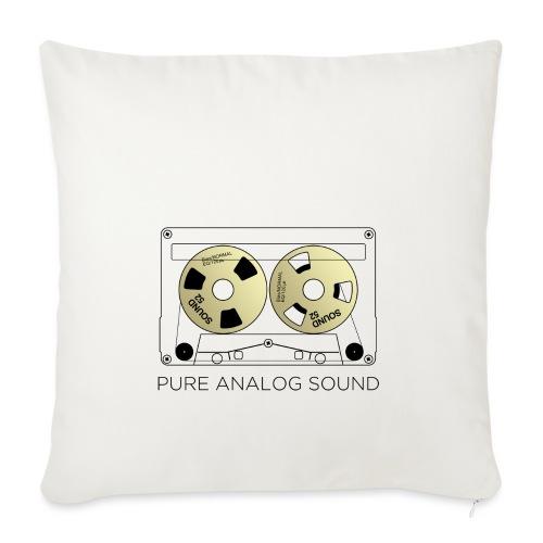 Reel gold cassette white - Sofa pillowcase 17,3'' x 17,3'' (45 x 45 cm)
