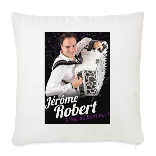 TSHIRT JEROME ROBERT NOIR jpg - Housse de coussin décorative 45x 45cm