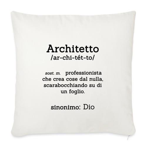 Architetto definizione - Sinonimo Dio - nero - Copricuscino per divano, 45 x 45 cm
