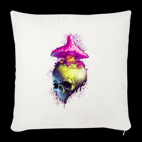 Shroomskull - Sofa pillowcase 17,3'' x 17,3'' (45 x 45 cm)