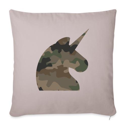 Einhorn T Shirt Männer Camouflage Army Style - Sofakissenbezug 44 x 44 cm
