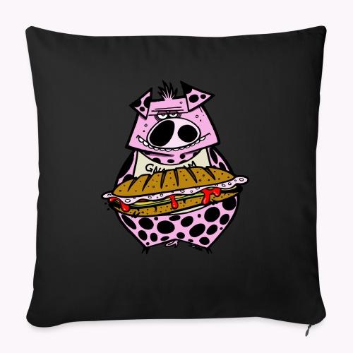 pig vs pig col - Copricuscino per divano, 45 x 45 cm