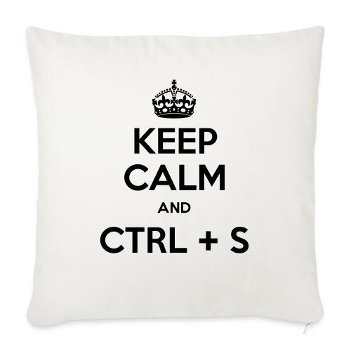 Keep Calm and CTRL+S - Housse de coussin décorative 45x 45cm