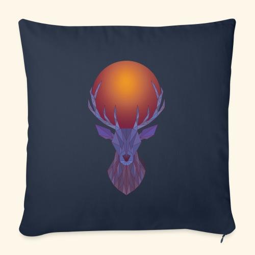 Roi Cerf Lunaire - Housse de coussin décorative 45x 45cm