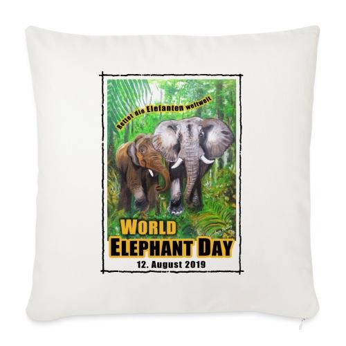 Welt-Elefanten-Tag 12. August 2019 - Sofakissenbezug 44 x 44 cm