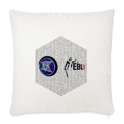 disen o dos canales cubo binario logos delante - Sofa pillowcase 17,3'' x 17,3'' (45 x 45 cm)