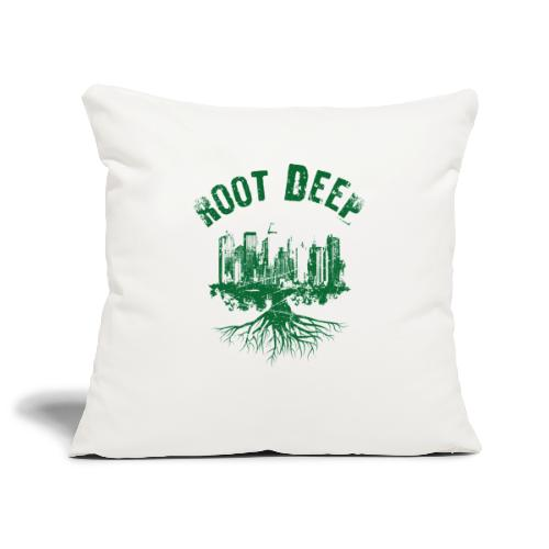 Root deep Urban grün - Sofakissenbezug 44 x 44 cm