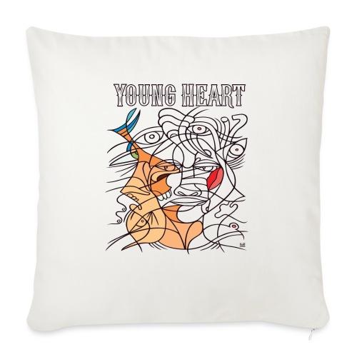 Young Heart - A Kiss - Copricuscino per divano, 45 x 45 cm