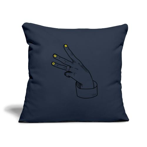 JH Hand EGO - Black&Yellow - Sofa pillowcase 17,3'' x 17,3'' (45 x 45 cm)