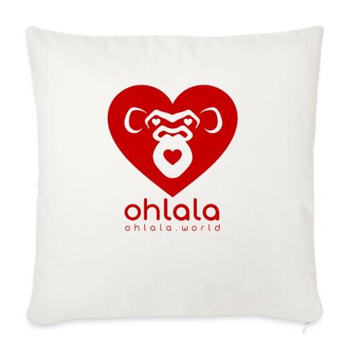 Ohlala LOVE - Housse de coussin décorative 45x 45cm