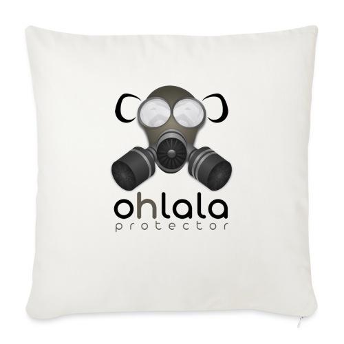 OHLALA PROTECTOR BLK - Housse de coussin décorative 45x 45cm