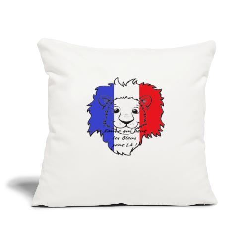 Lion supporter France - Housse de coussin décorative 45x 45cm