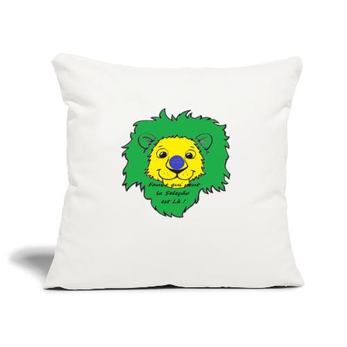 Lion supporter Brésil - Housse de coussin décorative 45x 45cm