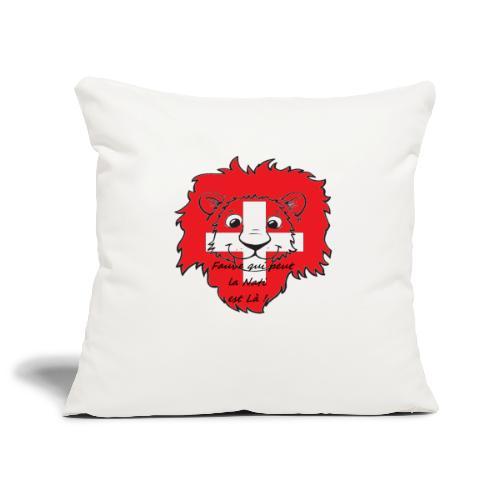 Lion supporter Suisse - Housse de coussin décorative 45x 45cm