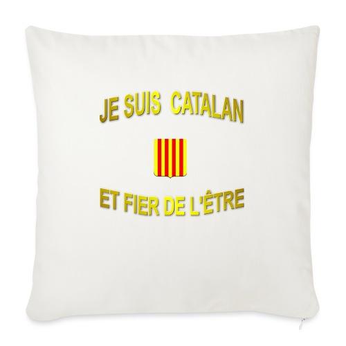 Tee-Shirt supporter du pays CATALAN - Housse de coussin décorative 45x 45cm