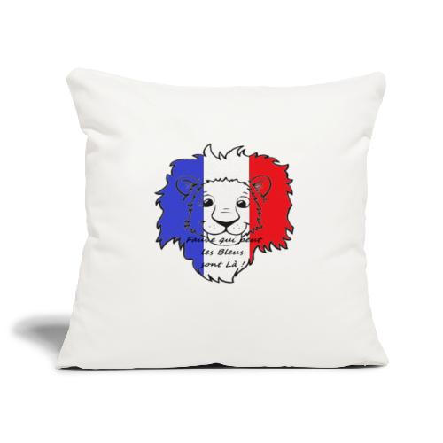 Lion supporter France - Housse de coussin décorative 45 x 45 cm
