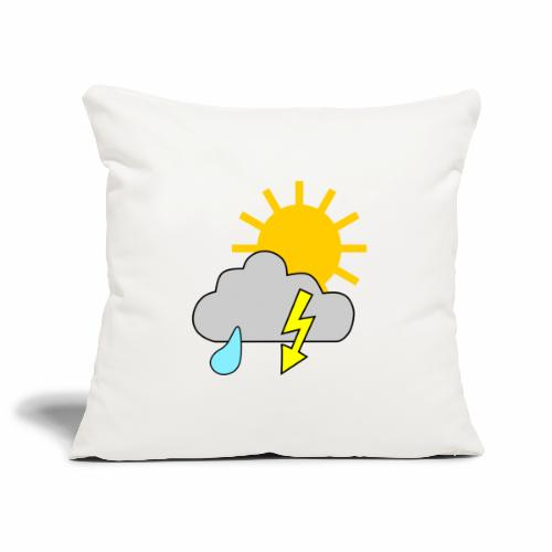 Sun - rain - thunderstorm - Sofa pillowcase 17,3'' x 17,3'' (45 x 45 cm)